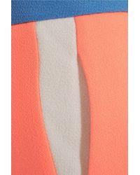 Roksanda Multicolor Neon Wool-crepe Shorts