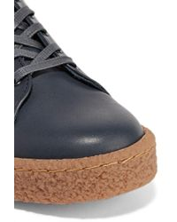 Eytys Blue Ace Leather Platform Sneakers