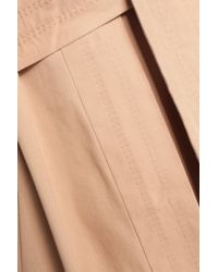 Ganni - Natural Cotton-twill Trench Coat - Lyst