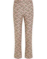 Giambattista Valli Pink Brocade Flared Pants