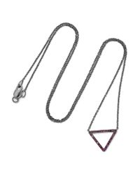 Ileana Makri | Metallic 18-karat White Gold Diamond Necklace | Lyst