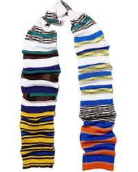 Missoni - Blue Striped Crochet-knit Scarf - Lyst