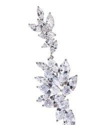 CZ by Kenneth Jay Lane Metallic Rhodium-plated Crystal Earrings Silver
