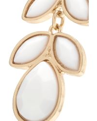 Kenneth Jay Lane - White Gold-plated Stone Earrings - Lyst