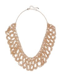 Kenneth Jay Lane - Metallic Gold-plated Necklace - Lyst
