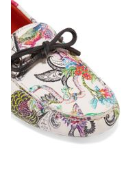 Etro - Multicolor Printed Leather Moccasins - Lyst