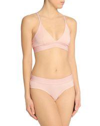 Skin Stretch-cotton Jersye Mid-rise Briefs Pastel Pink