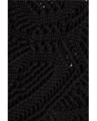 Emilio Pucci - Black Crocheted Cotton Shorts - Lyst