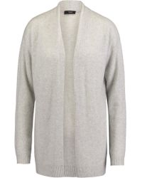 Theory Gray Armelle Draped Cashmere Cardigan