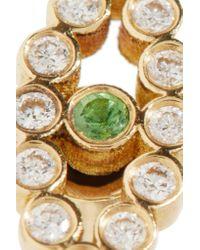 Ileana Makri | Metallic Chained Eye 18-karat Gold, Diamond And Tsavorite Earrings | Lyst