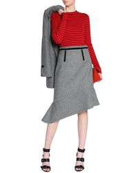 Proenza Schouler - Multicolor Strped Silk And Cashmere-blend Top - Lyst