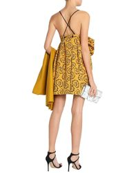 Victoria, Victoria Beckham Yellow Short Dress