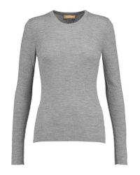Michael Kors - Gray Ribbed Merino Wool Sweater - Lyst