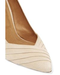 IRO | Natural Pia Pleated Suede Pumps | Lyst