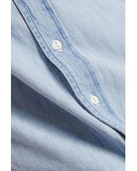 Rag & Bone - Blue Denim Boyfriend Shirt - Lyst