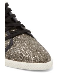 Marc By Marc Jacobs   Metallic Glittered Canvas Sneakers   Lyst