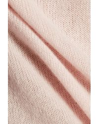 Halston Heritage - Open-back Cashmere Sweater Pastel Pink - Lyst