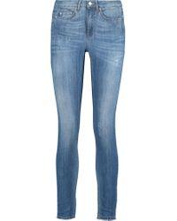 Acne Studios Blue Skin 5 Mid-rise Distressed Skinny Jeans
