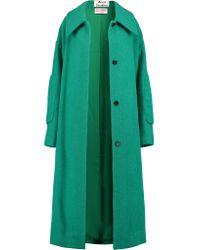 Acne Studios Green Bettina Oversized Belted Wool Coat