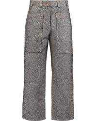 Acne Gray Milford Cropped Denim Straight-leg Pants
