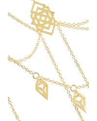 Noir Jewelry - Metallic Maze Gold-tone Necklace - Lyst