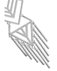 Noir Jewelry - Metallic Aztec Silver-tone Earrings - Lyst