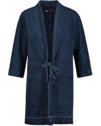3x1 Blue Wj Cocoon Cotton-blend Jacquard Jacket