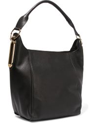 See By Chloé - Black Hobo Textured-leather Shoulder Bag - Lyst