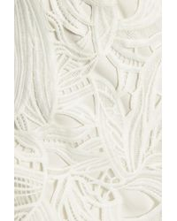 Sachin & Babi | White Marguerite Crochet-trimmed Ruffled Guipure Lace Dress | Lyst