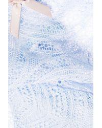 Eberjey Serena Stretch-lace Briefs Sky Blue
