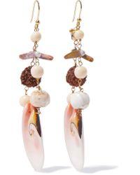 Rosantica - Pink Gold-tone Stone Earrings - Lyst