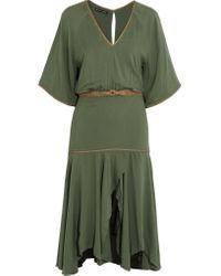 ViX - Green Belted Jersey Military Dress - Lyst