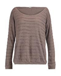 Eberjey - Multicolor Clyde Paneled Textured-knit Top - Lyst