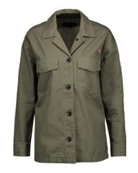 Rag & Bone Green Irving Embroidered Cotton-twill Jacket