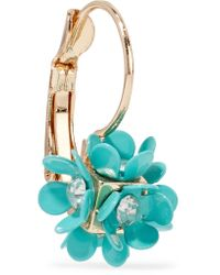 Kenneth Jay Lane - Blue Silver-tone Crystal And Resin Earrings - Lyst
