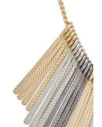 Kenneth Jay Lane - Metallic Gold-tone And Silver-tone Necklace - Lyst