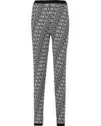 Moschino Black Jacquard-knit Wool Skinny Pants