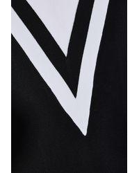 Rag & Bone Black Striped Stretch-knit Midi Dress