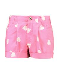 Moschino Pink Cotton-blend Shorts