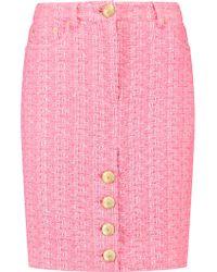Moschino Pink Tweed Mini Skirt