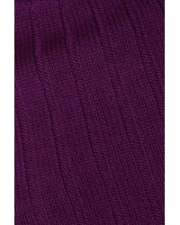 DKNY | Purple Wool Rib-knit Turtleneck Sweater | Lyst