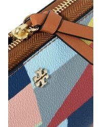Tory Burch - Blue Kerrington Printed Leather Wallet - Lyst