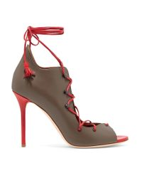 Malone Souliers Brown Savannah Lace-up Leather Pumps