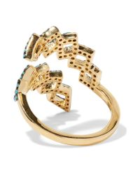 Noir Jewelry | Multicolor Mineral Springs Gold-plated Turquoise Ring | Lyst