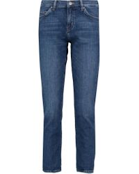 MiH Jeans Blue Cropped Mid-rise Straight-leg Jeans