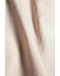 Brunello Cucinelli - Natural Chain-trimmed Asymmetric Silk-blend Top - Lyst
