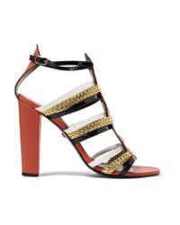 Just Cavalli Multicolor Stud-embellished Leather Sandals