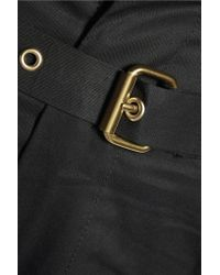 Isabel Marant - Black Neddy Belted Cotton Shorts - Lyst