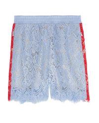 Goen.J | Blue Two-tone Corded Lace Shorts | Lyst