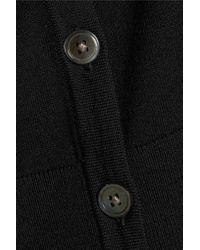 DKNY - Black Merino Wool Cardigan - Lyst